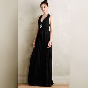 Anthropologie Maeve black maxi dress